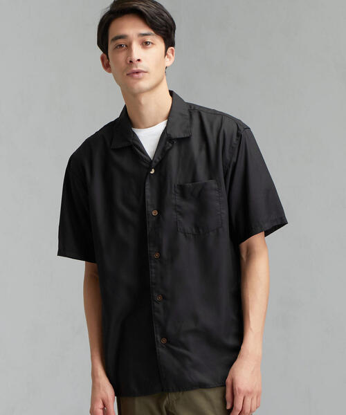 SC★★ エステルポプリン オープンカラー 半袖 シャツ <機能性生地 / 接触冷感>