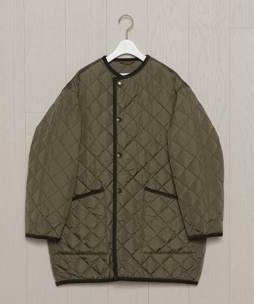 <Barbour>QUILTED NO COLLAR JACKET/ジャケット.