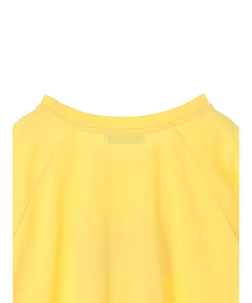 オープンショルダーロゴTシャツ