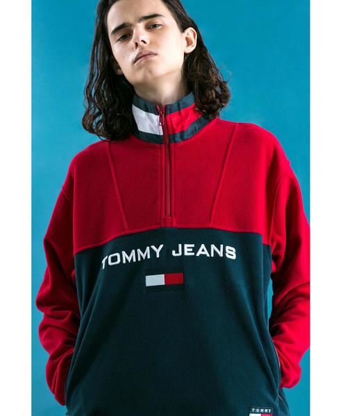 <TOMMY JEANS X monkey time> FLEECE HALFZIP/フリース