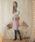 EDIT COLOGNE(エディットコロン)の「《EDIT COLOGNE》ポケットフェイクファーミディースカート(スカート)」|ピンク