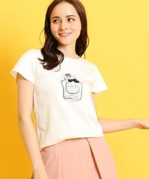 couture brooch(クチュールブローチ)の【洗える】香水ビンTシャツ(Tシャツ/カットソー)