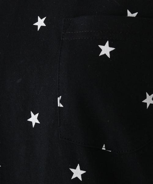スター総柄 長袖Tシャツ 16038