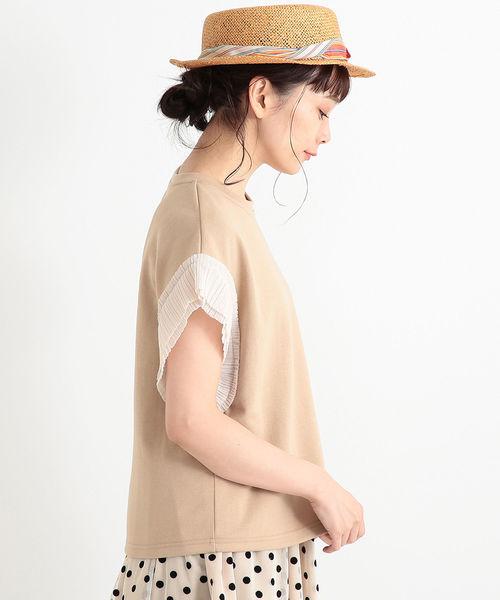 CAROLINA GLASER / プリーツ袖 カットソー