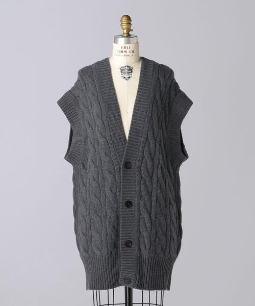 〈 BLAMINK(ブラミンク)〉 F CA 3G CABLE VEST
