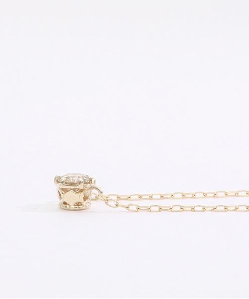 K10 和風模様 デザイン ダイヤモンド ネックレス