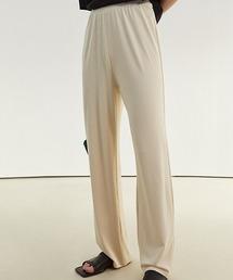【Fano Studios】【2021SS】Straight silhouette rib jersey pants FC21K047アイボリー