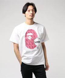 VALENTINE CHOCOLATE LOVE APE HEAD TEE M(Tシャツ/カットソー)