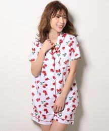 e450e511df181e aimerfeel(エメフィール)の「19半袖シャツパジャマ(ルームウェア/パジャマ)