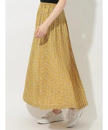 E hyphen world gallery(イーハイフンワールドギャラリー)の小花柄ロングプリーツスカート ●(スカート)