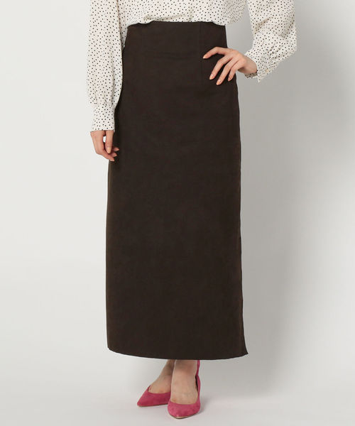 【保証書付】 【セール】人工皮革タイトロングスリットスカート(スカート)|NOLLEY