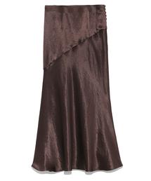 FRAY I.D(フレイアイディー)のサイドボタンナローサテンスカート(スカート)
