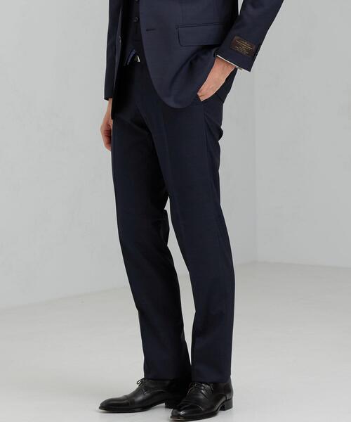 [カノニコ] CANONICO トロピカル無地 HX ノープリーツ スーツパンツ
