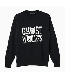 THE GHOST WOLVES/GW LOGO プルオーバーブラック