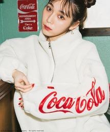 【コカ・コーラ】ハーフジップフリースオフホワイト