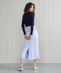 <H>SHINY LONG SKIRT/スカート