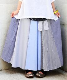osharewalker(オシャレウォーカー)の『ストライプデザインフレアスカート』(スカート)