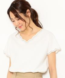 NFC スカラップ シシュウ Tシャツ ◆