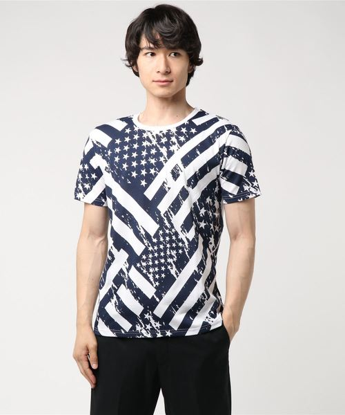 星条旗柄Tシャツ ビンテージサーフプリント