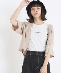 WEGO(ウィゴー)のWEGO/オープンカラークロップドシャツ(シャツ/ブラウス)