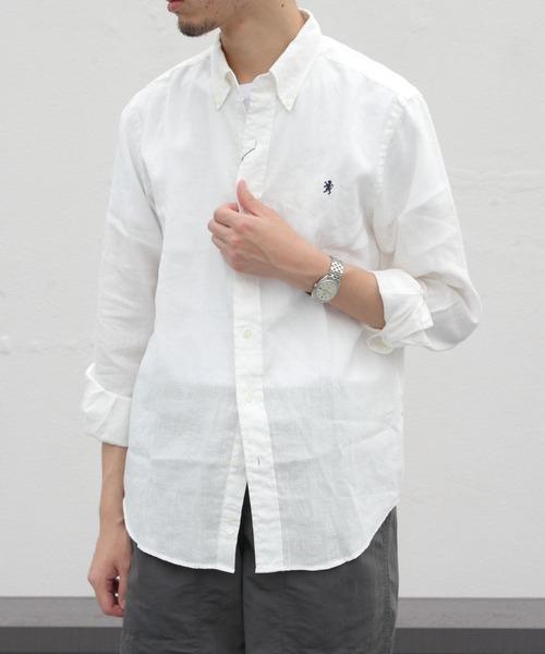 GYMPHLEX / ジムフレックス リネンクロス ボタンダウンシャツ #J-0643KLS