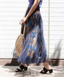 FREE'S MART(フリーズマート)の◆チュール花柄レイヤードスカート(スカート)