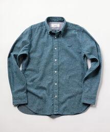 NOLLEY'S(ノーリーズ)のクジラ刺繍ボタンダウンネルシャツ 19AW(シャツ/ブラウス)