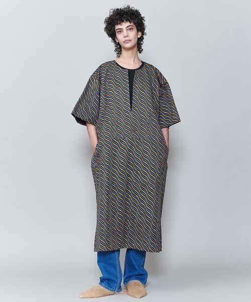<6(ROKU)>BATTIK MOTIF BIG DRESS/ワンピース
