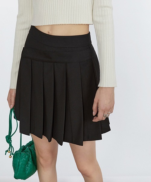 【Fano Studios】【2021SS】Design waist pleated short skirt FC21B012