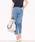 Pierrot(ピエロ)の「360°美脚見えストレートテーパードパンツ センタープレス(パンツ)」|ブルー