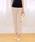 Pierrot(ピエロ)の「360°美脚見えストレートテーパードパンツ センタープレス(その他パンツ)」|ピンクベージュ
