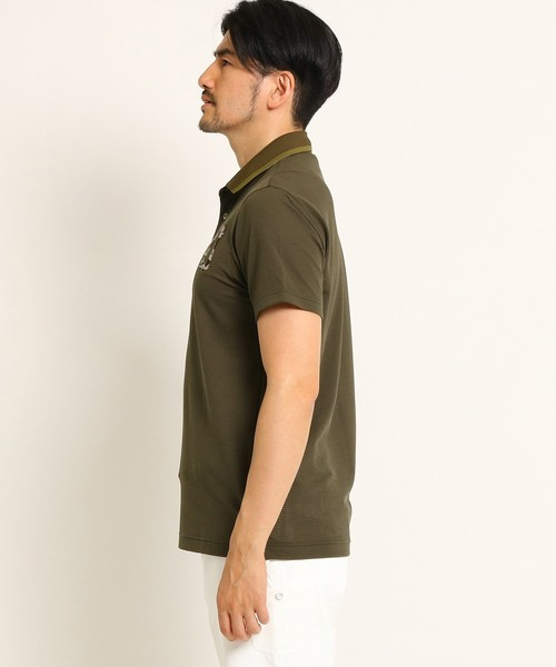 【UVカット】【吸水速乾】カモフラージュ柄半袖ポロシャツ