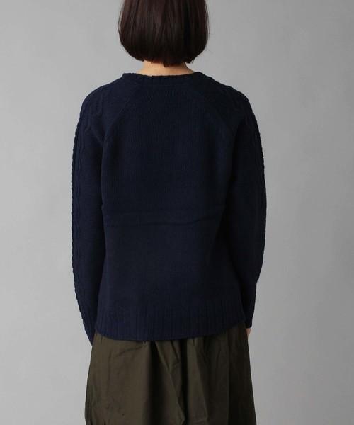 【Nanea】ラム混 ヘンリーネック プルオーバー