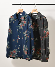 Discoat Parisien(ディスコートパリシアン)の花柄オープンカラーシャツ(シャツ/ブラウス)