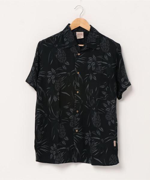 レーヨンアロハシャツ リラクシングシルエット ユニセックスサイジング オープンカラー 開襟シャツ
