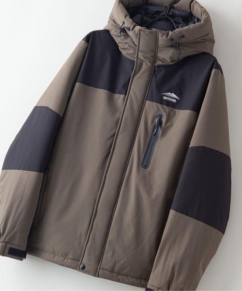 撥水防風ストレッチ耐水圧10000mm切替中綿フードジャケット カモフラージュ