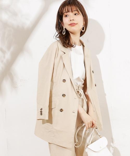 0653e29bbbec6 natural couture(ナチュラルクチュール)のおしゃれリネンテーラードジャケット(テーラードジャケット)