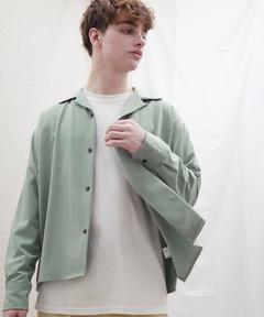 ブライトポプリンリラックスオープンカラーシャツ Poplin Open Collar Shirt