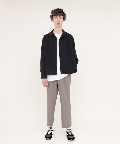 EMMA CLOTHES(エマクローズ)の「ブライトポプリンリラックスオープンカラーシャツ Poplin Open Collar Shirt(シャツ/ブラウス)」|詳細画像