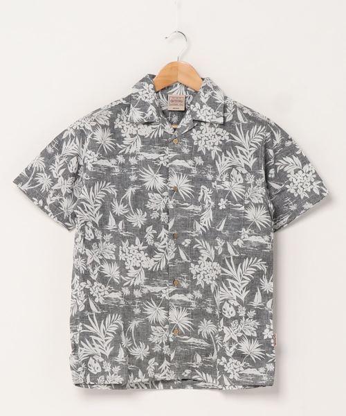 綿アロハシャツ リラクシングシルエット ユニセックスサイジング 開襟シャツ オープンカラー
