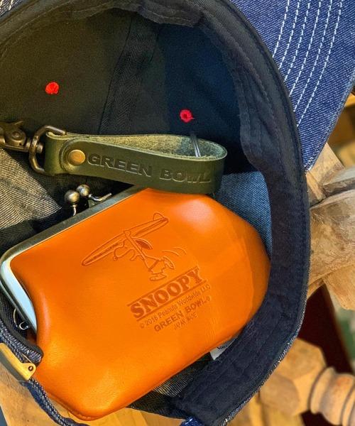 【日本製】SNOOPY Leather Coin Purse / スヌーピ レザー コイン パース