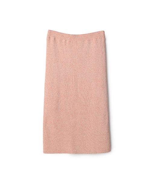 ESTNATION(エストネーション)の「ESTNATION コットンメランジニットスカート(スカート)」|オレンジ