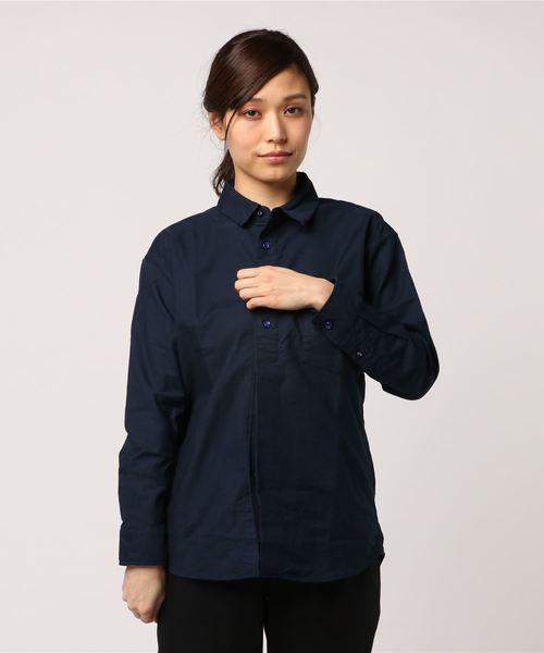 EEL / イール  陶器ボタンのシャツ(ウィメンズ)