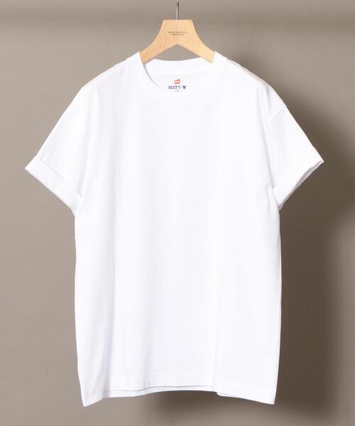 HANES(ヘインズ)の「【別注】 <Hanes(ヘインズ)> BEEFY-T/ビーフィー Tシャツ ◇ :(Tシャツ/カットソー)」|ホワイト