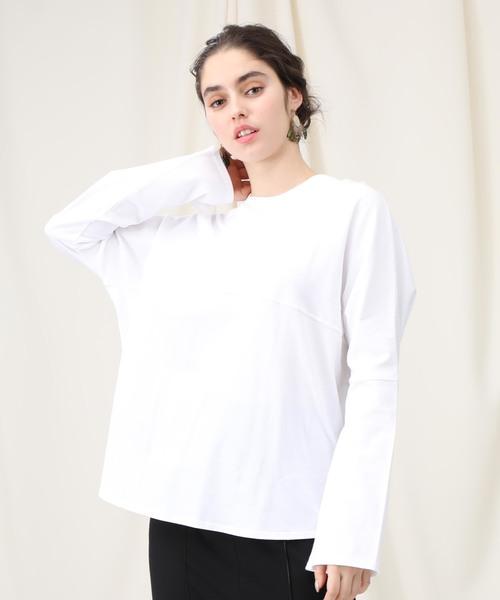 【STUDIOUS】ビックシルエット コットンロングTシャツ