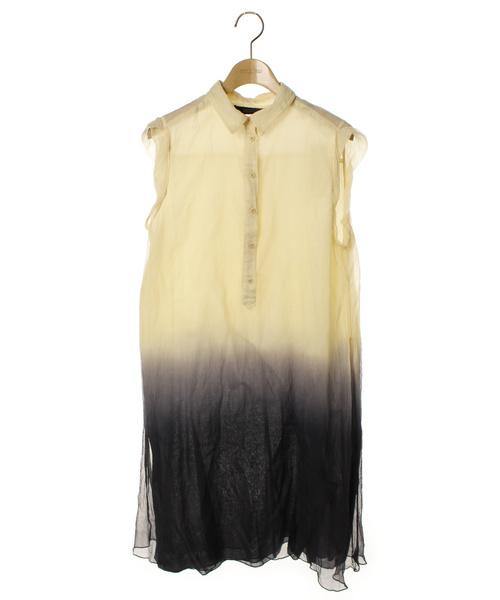 8a9900ac270d DIESEL(ディーゼル)の古着「シャツワンピース(シャツワンピース)」|ベージュ