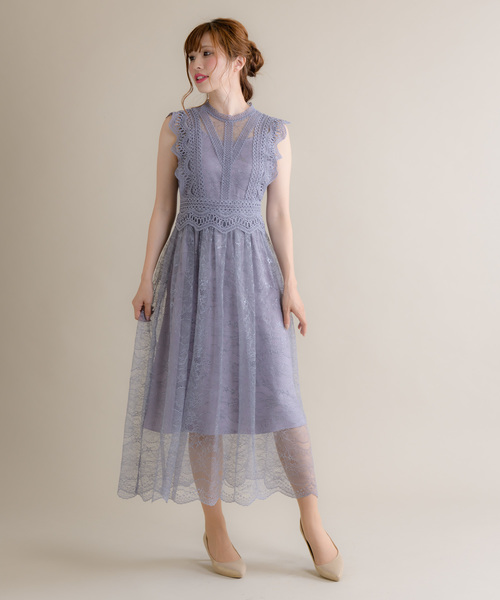 【予約販売品】 フレンチスリーブレースドレス(9R04-A1879)(ドレス)|Rewde(ルゥデ)のファッション通販, 資材屋:d82ca2d1 --- 5613dcaibao.eu.org