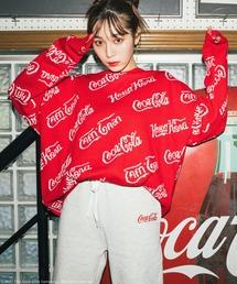 【コカ・コーラ】ジャガードニットレッド
