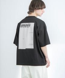 シルケットライク天竺 オーバーサイズ S/S メッセージプリント カットソー EMMA CLOTHES 2021SS COLLECTION - INVERSION(反転) × HIDE AND SEEK(かくれんぼ) -ブラック系その他