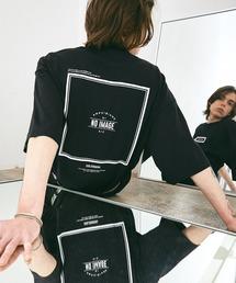 シルケットライク天竺 オーバーサイズ S/S メッセージプリント カットソー EMMA CLOTHES 2021SS COLLECTION - INVERSION(反転) × HIDE AND SEEK(かくれんぼ) -ブラック系その他2